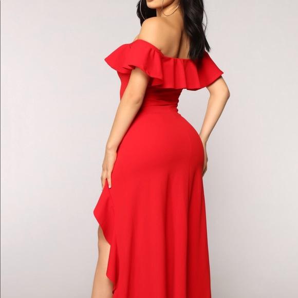 625dea997b4 Fashion nova Chasin  love ruffle dress red